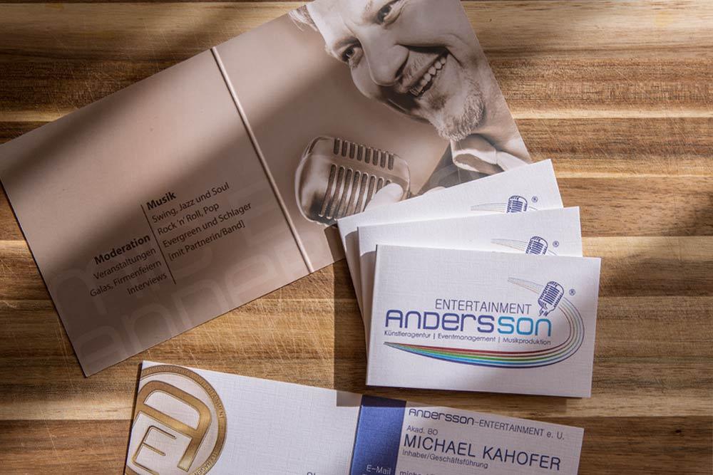 AnderssonEntertainment - Printdesign und Logoredesign by weidinger.design