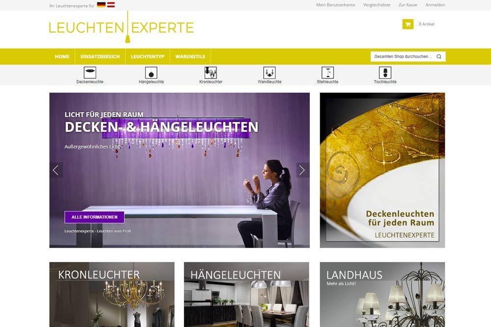Leuchtenexperte.eu - Webshop by weidinger.design