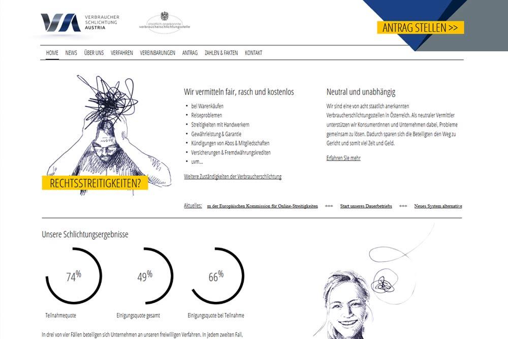 Verbraucherschlichtung Development by weidinger.design
