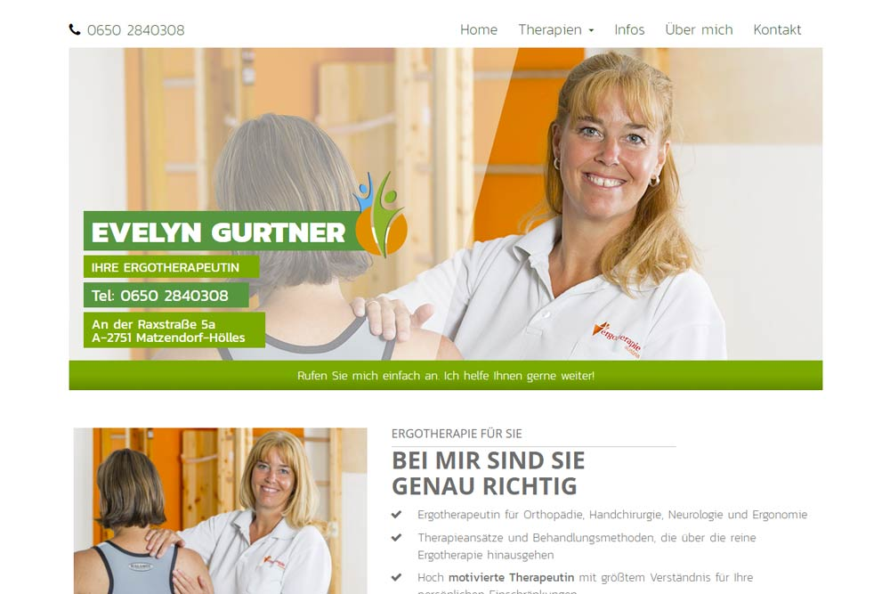 Website ergotherapie4you by weidinger.design